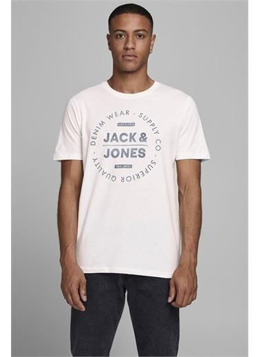 Jack & Jones Sıfır Yaka Tişört Jeans 12177533-Sag Renkli